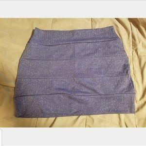 Blue & gold shimmer mini skirt Small / Medium